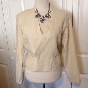 Kenzie Paris Cream Blazer